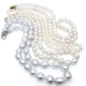 natural white pearls