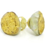 kintsugi collection gold south sea pearls earrings