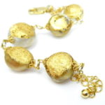 kintsugi collection gold south sea pearls bracelet
