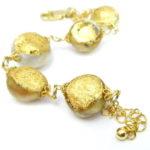 kintsugi collection gold south sea pearls bracelet