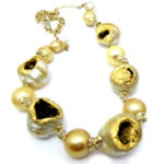 kintsugi collection gold south sea pearls necklace