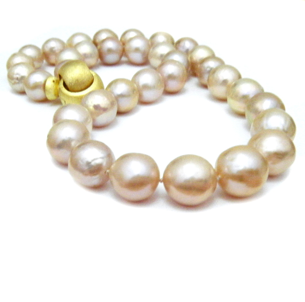 necklace tahitian peach pearl south pearls sea golden